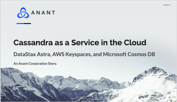 Cassandra as a service in the cloud